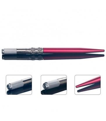 Pen Grawerowany Czerwony - Flower
